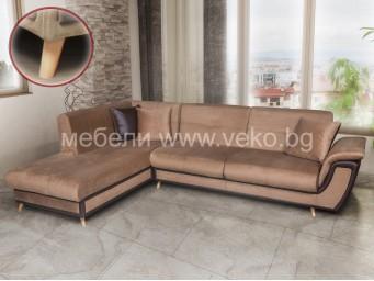 Ъглов диван Калифорния с БУКОВ КРАК h48 №7
