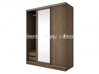 трикрилен гардероб СИТИ 1006 с плъзгащи врати
