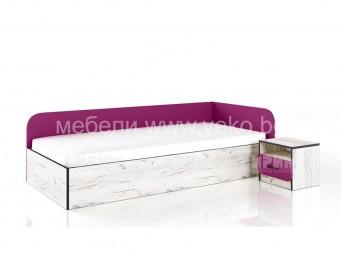 Легло СИТИ 2026 за матрак 90/200 с нощно шкафче