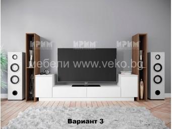 ТВ шкаф Сити 6225 с три варианта