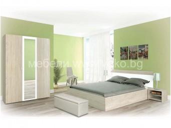спален комплект ЕСТЕЛА Сонома и Бяло