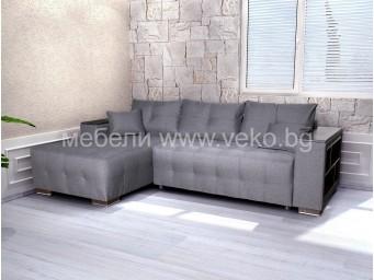 Ъглов диван ЛЕОН-М №68 с Покет пружини