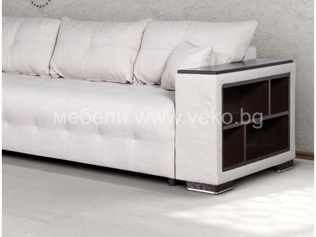 Ъглов диван ЛЕОН-М №1 с Покет пружини