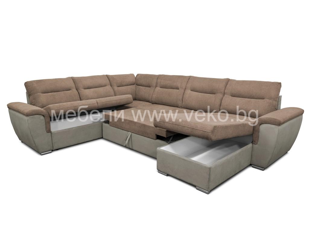 П-образен диван ВАШИНГТОН 2С2Л
