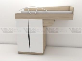Легло горен етаж с гардероб МАРТИ М21