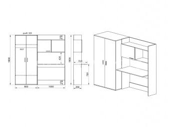 Секция и гардероб сити 5014