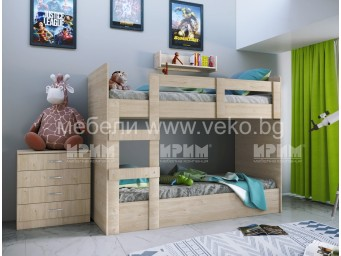 Двуетажно легло Сити 5015 за матраци 90/200
