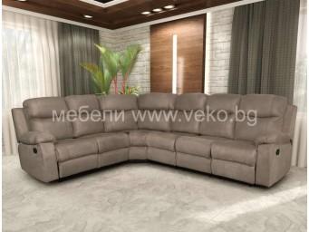 Ъглов диван ЧИКАГО-МАХ №93 с релакс механизъм