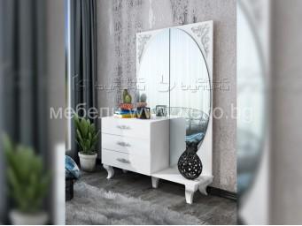 скрин-тоалетка БЕЛИСИМА с бяла декорация