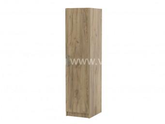 Еднокрилен гардероб Топ 1 с рафтове - Дъб крафт Златен 40 см.