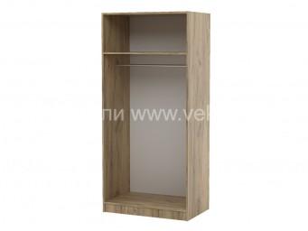 Двукрилен гардероб Топ 2 с лост и рафт - Дъб крафт Златен 80 см.