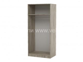 Двукрилен гардероб Топ 2 с лост и рафт - Дъб крафт Сив 80 см.