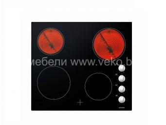 Стъклокерамичен плот Eurolux PVS MC4 Черен