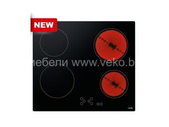 Стъклокерамичен плот LINO PVL TC4 V R Черно стъкло