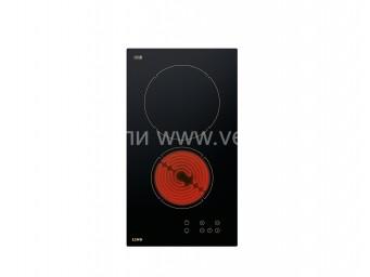 Стъклокерамичен плот LINO PVL TC2 V R Черно стъкло