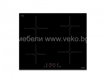 Индукционен плот Eurolux HBEI TC4B-2 FS Черно стъкло