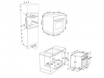 фурна за вграждане Eurolux EO1 F8PMS XS Инокс / Черно стъкло