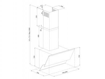 Eurolux GLORY 60 BK / 60cm Черно стъкло/Иноксов комин