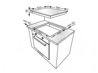 Индукционен плот Eurolux EIH6 TC4B FV Черна стъклокерамика