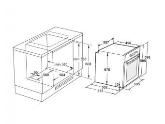 фурна за вграждане LINO FL4 F8PTDS XS Инокс / Стъкло
