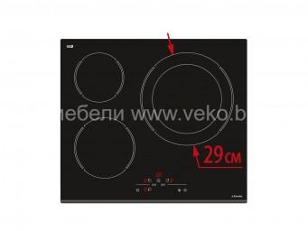 Стъклокерамичен плот Eurolux ECH4 TC4MAX FV Черен