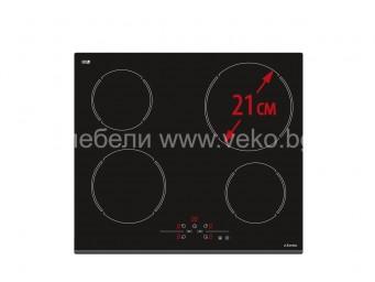 Стъклокерамичен плот Eurolux ECH2 TC4 FV Черен