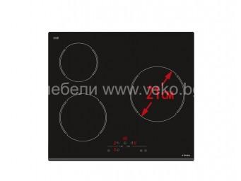 Стъклокерамичен плот Eurolux ECH2 TC3S60 FV Черен