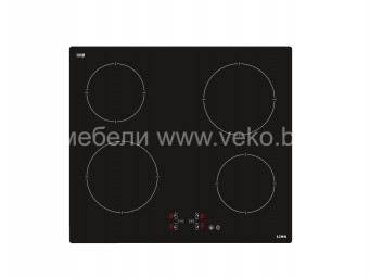 Стъклокерамичен плот LINO PL2 TC4 V Черно стъкло