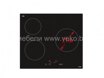Стъклокерамичен плот LINO PL2 TC3S60 V Черно стъкло