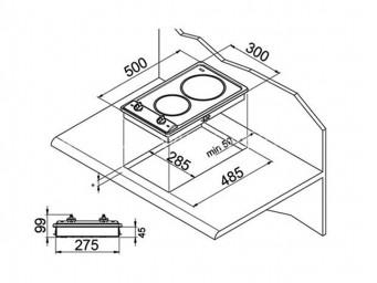 Домино плот Eurolux PVS 30 2VM X Инокс/Стъкло