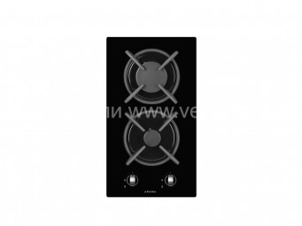 Стъклокерамичен плот Eurolux HBE 30 2G FV Газов/Черен