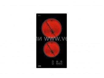 Стъклокерамичен плот LINO PVL TC2 V Черно стъкло