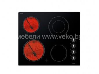 Стъклокерамичен плот Eurolux HBE MC5 FV Черен
