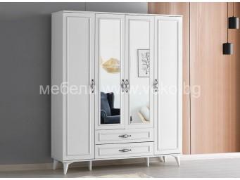 Четирикрилен гардероб ИРМАК 4042
