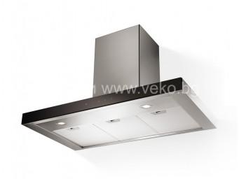 Eurolux EVOLUTION BК/X A60 Черно стъкло/Инокс