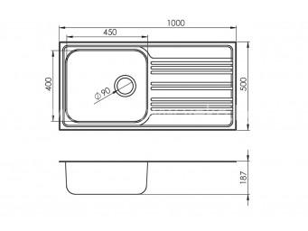 Иноксова мивка LEKS BOWL BB 100.1 SI