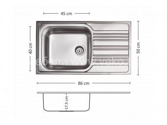 Иноксова мивка LEKS BOWL BB 86.1 SI
