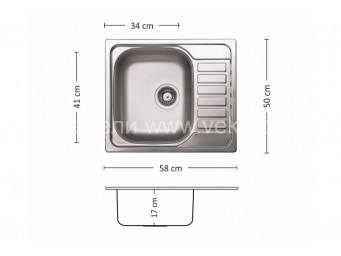 Иноксова мивка LEKS COMPACT 58.1 SI