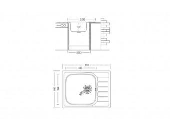 Иноксова мивка LEKS COMPACT BB 65.1 SI