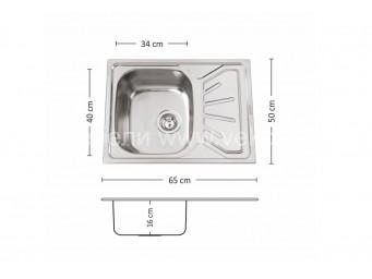 Иноксова мивка LEKS FIRST 65.1 SI