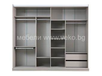 спален комплект САЛДА Гардероб с плъзгащи врати