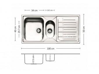 Иноксова мивка LEKS MELODIA 100.2 TI