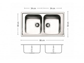 Иноксова мивка LEKS MELODIA 86.2 TI