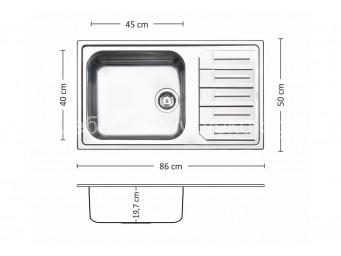 Иноксова мивка LEKS MELODIA BB 86.1 TI