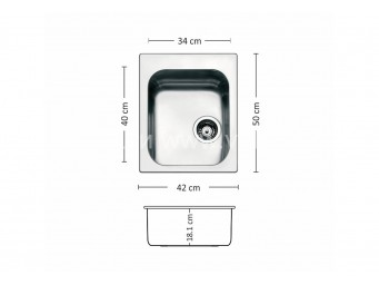 Иноксова мивка LEKS TORINO 420 SI