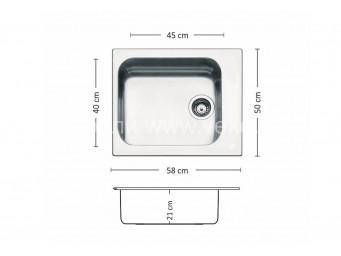 Иноксова мивка LEKS TORINO BB 580 SI
