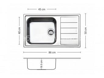 Иноксова мивка LEKS VENICE BB 86.1 FI