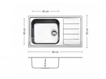 Иноксова мивка LEKS VENICE BB 86.1 TI