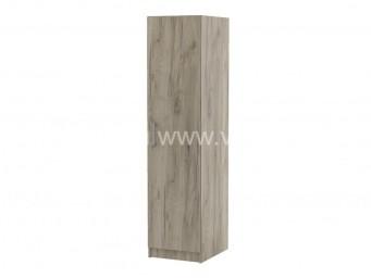 Еднокрилен гардероб Топ 1 с рафтове - Дъб крафт Сив 40 см.