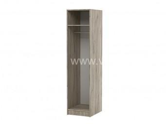 Еднокрилен гардероб Топ 1 с лост - Дъб крафт Сив 40 см.